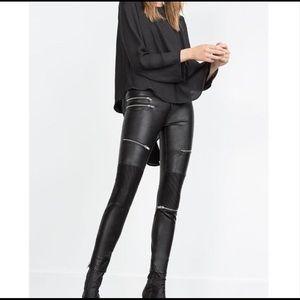 Zara Moto Pants